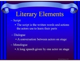 Drama Activities for Primary:  Game, PowerPoint of Terms, and More!