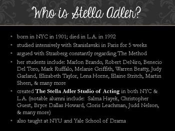 Drama Adler Acting Method Powerpoint