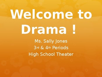 Drama Back To School Night Powerpoint