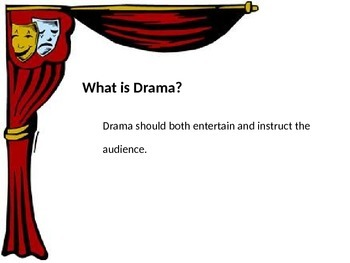 Drama Basics Powerpoint (and How to Read a Play Script)