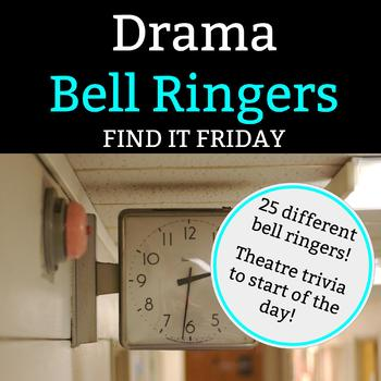 Drama Bell Ringer: Find It Friday - 1 Full Semester of Friday Bell Ringers