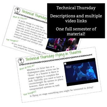 Drama Bell Ringer: Technical Thursday - 1 Full Semester of Thursday Bell Ringers