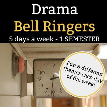Drama Bell Ringers - BUNDLED 5 Days a Week - 1 Full Semester - 135 Slides
