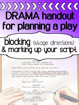 Drama - Planning a play - Blocking / What to write on a script?