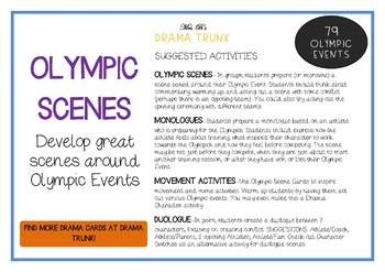 OLYMPIC EVENTS (Drama Cards + Activities)
