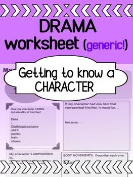Drama - Character Worksheet (generic)
