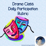 Drama Class Daily Participation Rubric