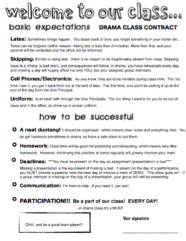 Drama - Class Expectations / Rules