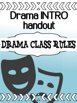 Drama - INTRO - The First Day - Class Rules