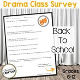 Drama Class Survey   Interest Inventory for Grades 6-12