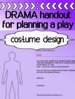 Drama - Costume Design Template