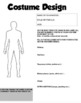 Drama - Costume Design - Blank Template