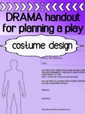 Drama - Costume Design - Blank Template