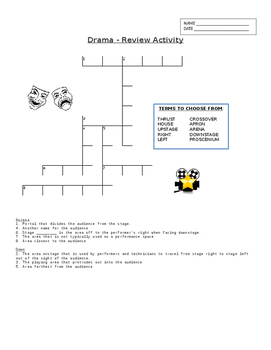 Drama - Crossword Review Activity - Stages