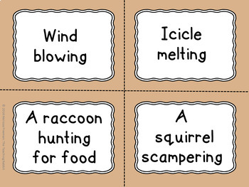 Movements in Nature Task Cards for Drama & Dance