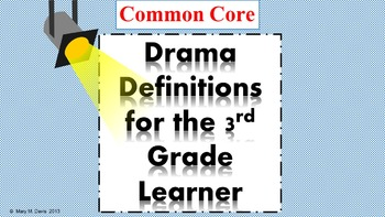 Drama Definitions for the 3rd Grade Learner