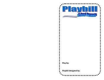 Drama-Designing a Playbill