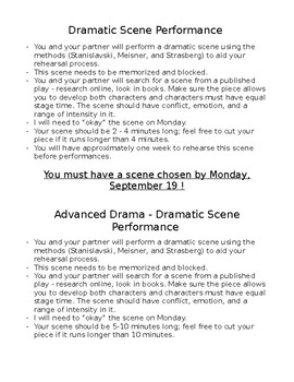 Drama Dramatic Scene Performance Project