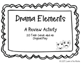 Drama Elements A Review Activity