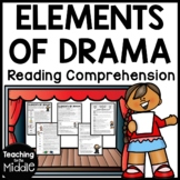 Drama Elements Activity Worksheet Terms and Comprehension Elements of Drama