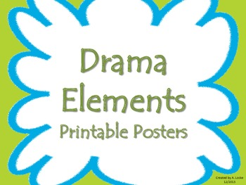 Drama Elements Printable Posters (Blue/Green)