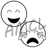 Drama Emojis (black and white version)