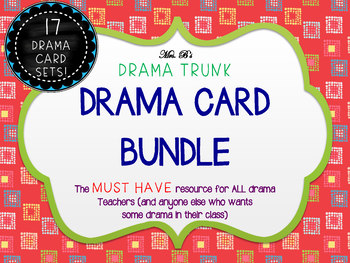 Drama Cards : BUNDLED 17 SETS (with Drama Activities & Games)