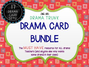 Drama / English Cards : BUNDLED 17 SETS (Drama Activities