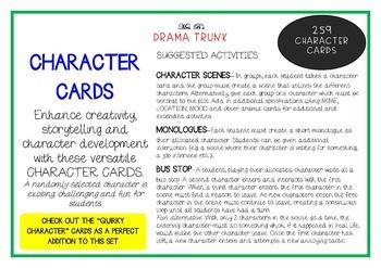 CHARACTER Drama Cards / English Cards (Drama Games + Activities)
