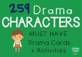 CHARACTER Drama Cards / English Cards (Drama Games + Activities)
