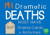 Drama Cards : DRAMATIC DEATHS (Drama Games + Activities)