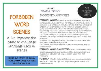 Drama / English Cards : FORBIDDEN WORD SCENES (Drama Games + Activities)