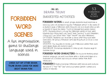 Drama / English Cards : FORBIDDEN WORD SCENES (Drama Games + Activities)
