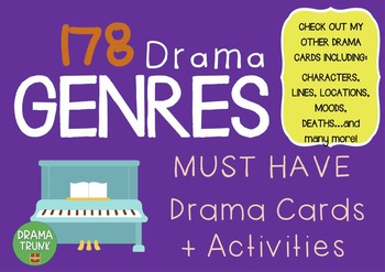 Drama / English Cards : GENRES (Drama Games + Activities)