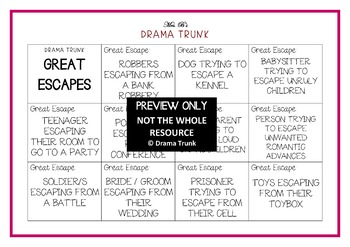 Drama / English Cards : GREAT ESCAPES (Drama Games + Activities)