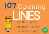 OPENING LINES Drama / English Cards (with Drama Games + Activities)