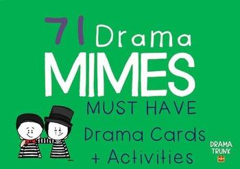 Pantomime Drama Cards + Mime Drama Activities