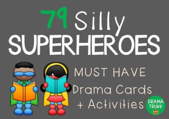 Role Play Cards / Drama Cards : SILLY SUPERHEROES (+ Drama Games + Activities)