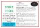 Drama / English Cards : TITLES (Drama Games + Activities)