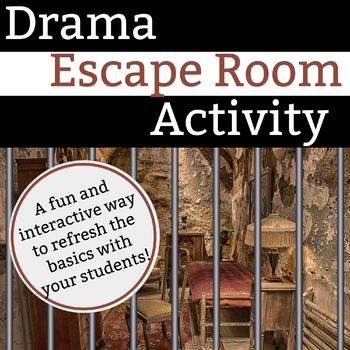 Drama Escape Room Activity - BreakoutEDU adaptable!