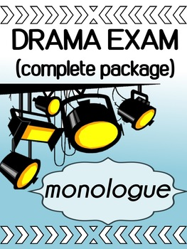 Drama -  Monologue Project (complete package)