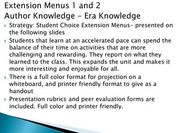 Drama Extension Activities PowerPoint