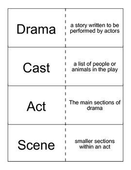 Drama Flashcards