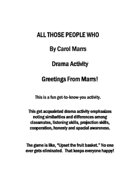 Drama Game-All Those People Who