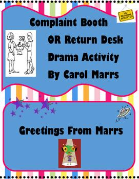 Drama Game-Complaint Booth OR Return Desk