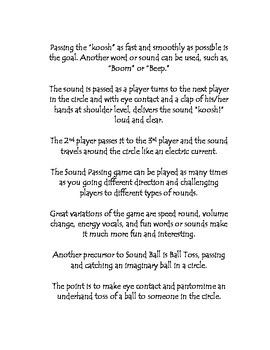 Drama Game - Sound Ball