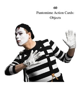 Drama Games:  Action Pantomime Cards