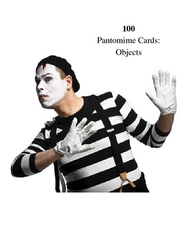 Drama Games:  Object Pantomime Cards