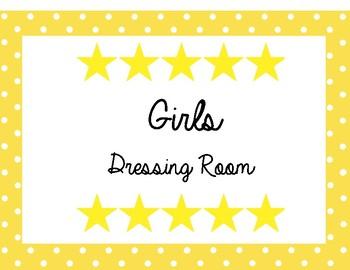 Drama Girls Dressing Room Sign