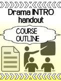 Drama - Intro - Grade 9/10 Course Outline Sheet (editable)